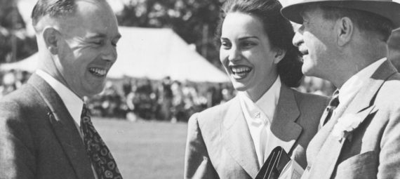 Sonia Bata at a Bata Gala Sports Day in the early 1950s